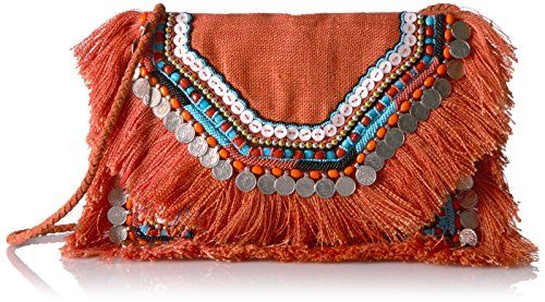 Shashi Allie Crossbody/Clutch, Orange
