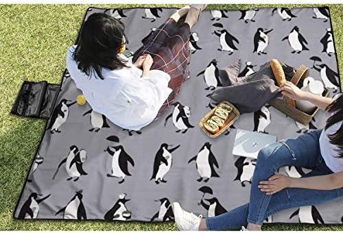 Suo Long Grande Pinguino per Picnic all'aperto Coperta Divertente Camper da Spiaggia Antisdrucciolevole Tote per Campeggio Escursionismo Erba Viaggiare