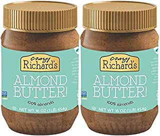 product image for Crazy Richard's All Natural Almond Butter 16 oz Jar (Almond Butter, 2 Jars)