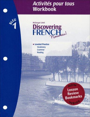 Discovering french nouveau activites pour tous with lesson review discovering french nouveau activites pour tous with lesson review bookmarks level 1 mcdougal littel 9780618661824 amazon books fandeluxe Gallery