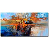 Hand Painted Abstract Oil Painting on Canvas Modern Wall Art Decor