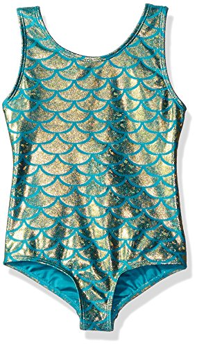 Danskin Little Girls' Gymnastics Leotard, Mermaid Teal, Small (4/6)