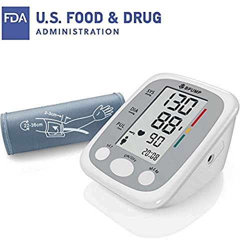 Clinical Automatic Upper Arm Blood Pressure Monitor - Accurate, FDA Approved - Low Noise, Large Screen Display - Large Size Fits Most Cuff - Portable Irregular Heartbeat & Hypertension - Automatic Arm