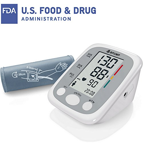106 Manual Screen (Clinical Automatic Upper Arm Blood Pressure Monitor - Accurate, FDA Approved - Low Noise, Large Screen Display - Large Size Fits Most Cuff - Portable Irregular Heartbeat & Hypertension Detector)