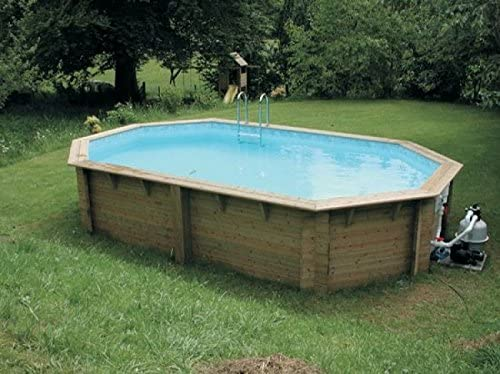 DOUGHBOY Stretched – Piscina octogonal de madera 4,9 m x 8,4 m ...