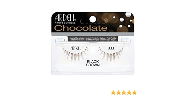 47bbdf3b22c Amazon.com : (3 Pack) ARDELL Professional Lashes Chocolate Collection - Black  Brown 888 : Beauty
