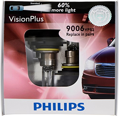 (Philips 9006 VisionPlus Replacement Bulb, (Pack of 2))