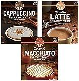 Cafe Tastlé 卡布奇诺,香草拿铁,焦糖玛奇朵,30个 多种包装