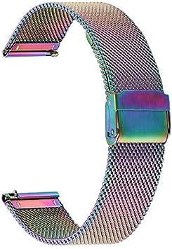 TRUMiRR Compatible con Galaxy Watch Active2/Galaxy Watc Active Correa, 20mm Correa de Reloj de Acero Inoxidable de Malla Tejida para Samsung Galaxy Watch Active/Galaxy Watch Active2