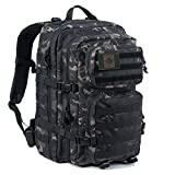 Coolton Tactical Backpack, Black Multicam Military Army Molle Backpack/Tactical Military Bag/Hiking Backpack Daypack/Bug