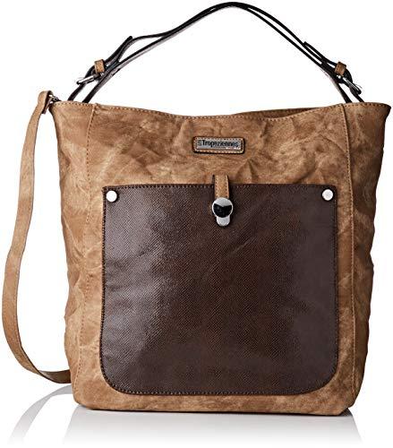 Les Tropéziennes Par M. Belarbi Den01-tz-Brown, Sac à bandoulière pour Femme (brun Marron) 16x37x40 Cm (l X H L)