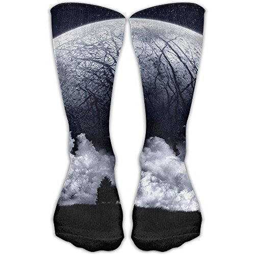 YUANSHAN Socks Clouds Moon Women & Men Socks