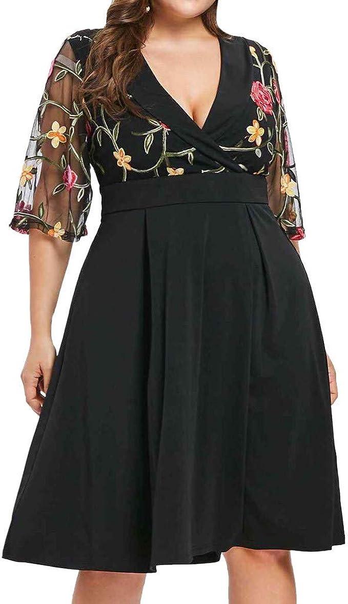 CCatyam Vestidos para Mujer, Falda China Cheongsam Bodycon Vintage ...