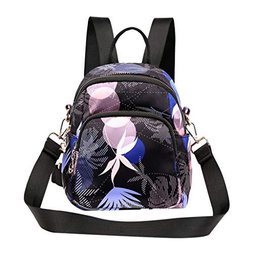 Women's Printed Ethnic Nylon Fabric Bag Waterproof Shoulders Backpacks Shoulder Bag School Bags for Travel,Hiking,Picnic