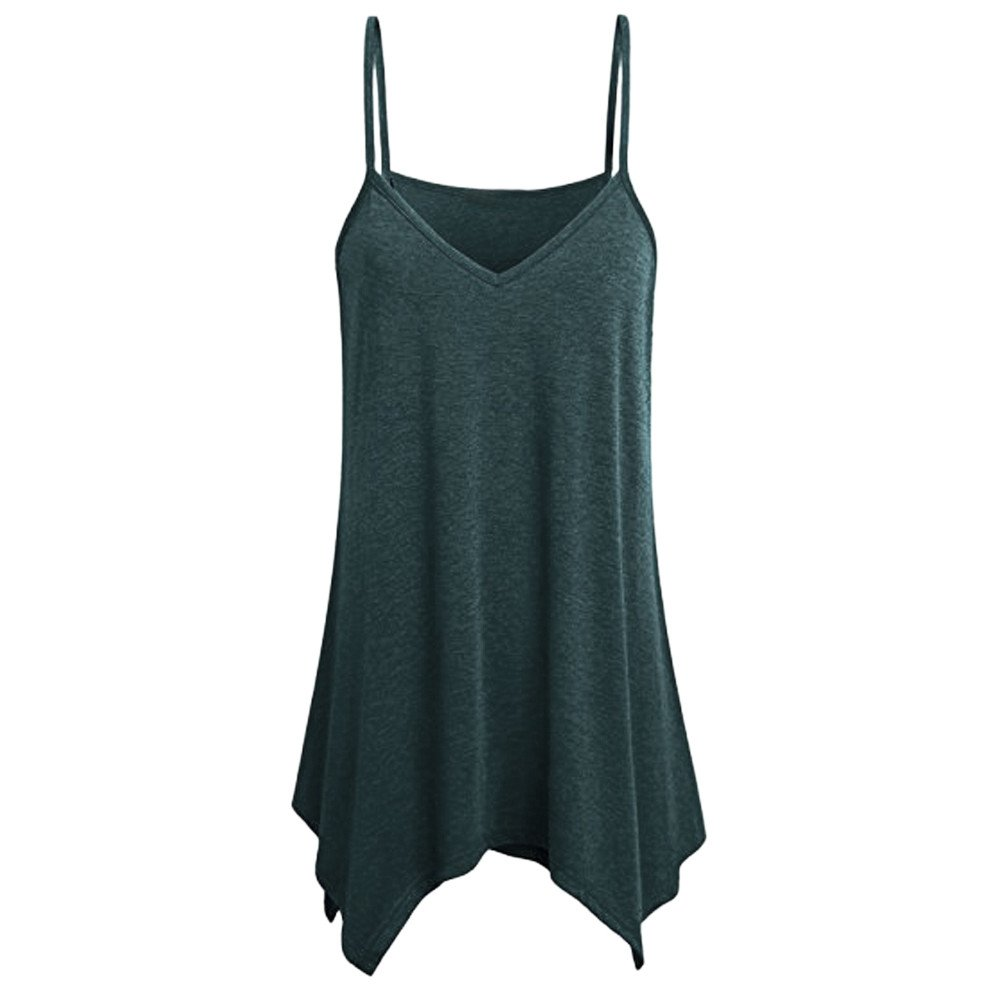 UOKNICE Blouses for Womens, Casual Hem Flowy Summer Spaghetti Strap Camisoles Tank Pullovers T-shirts Tees Tops men's near me wool online formal designer trendy design sheer fancy