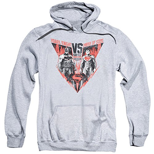 Trevco Men's Batman V Superman Battle for Gotham Adult Hoodie at Gotham City Store