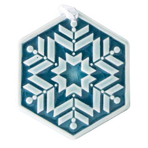 (Pewabic Snowflake Ornament - Prisms )
