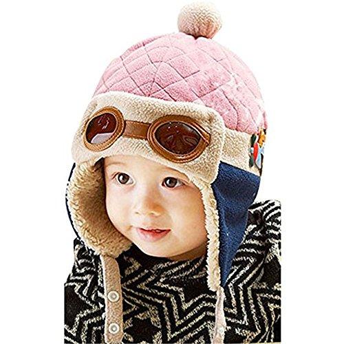 Creazy Cute Baby Infant Boy Girl Stripe Beret Cap Peaked Baseball Hat (Earflap 2)