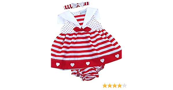 f5a41d902688a Amazon.com  BabyPrem Baby 3 Piece Dress Knickers Headband Set Stripes  Clothes 6-18 Months  Clothing