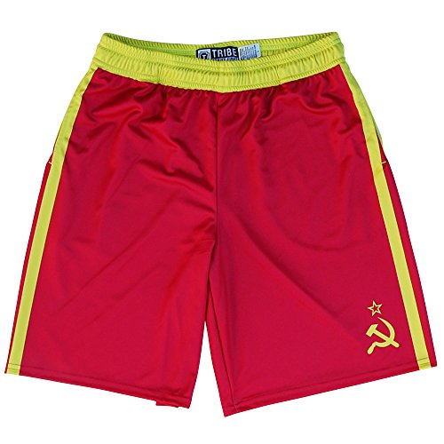 Drago Lacrosse Shorts, Red, Adult -