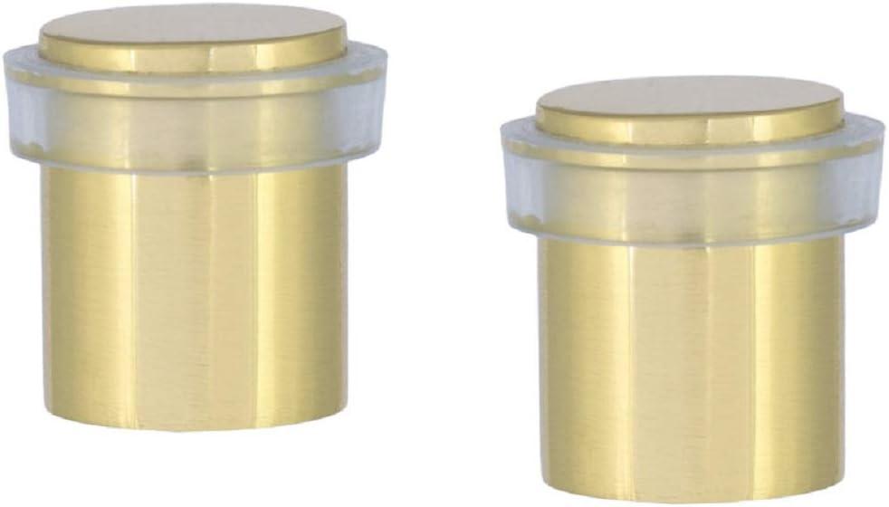 EVI Herrajes I-180-T finition laiton mat laiton Butoir de porte pack de 2 unit/és caoutchouc transparent