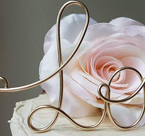 WE DO Cake Topper in Champagne Gold Finish
