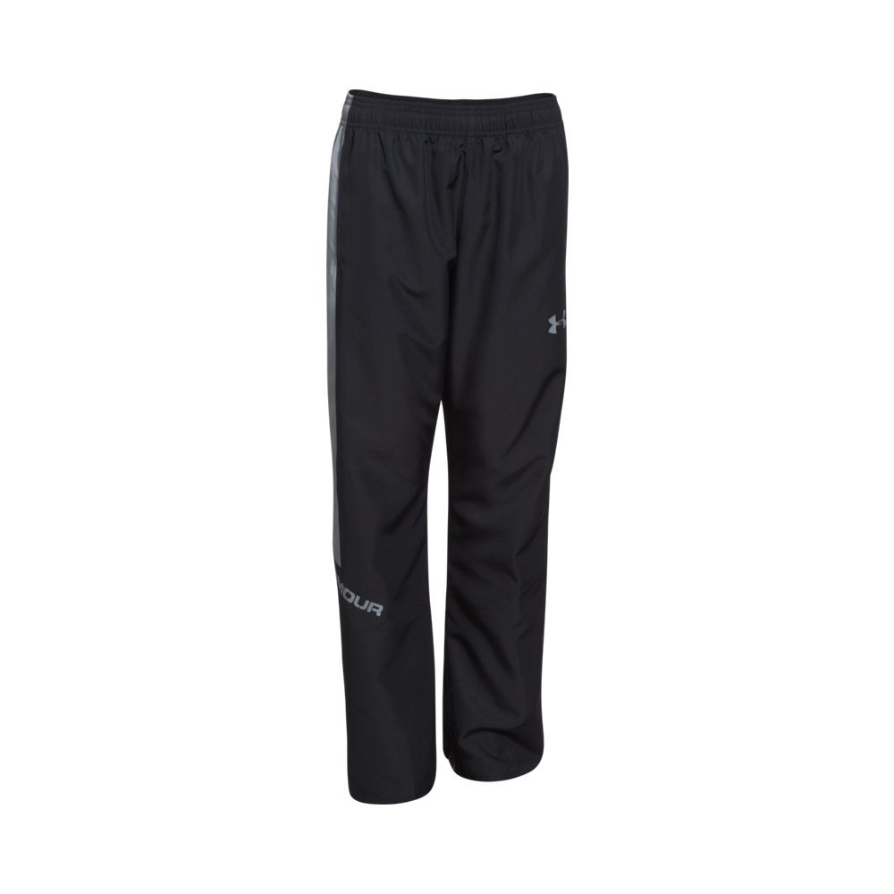 Under Armour Boys' Main Enforcer Woven Pants, Black /Steel, Youth X-Small