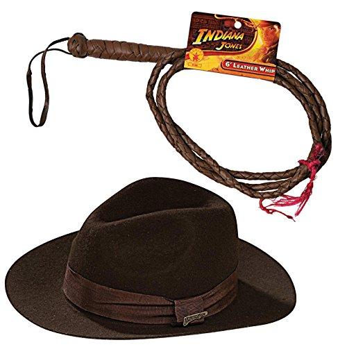 Indiana Jones Costume Bundle (Indiana Jones Hat And Whip)
