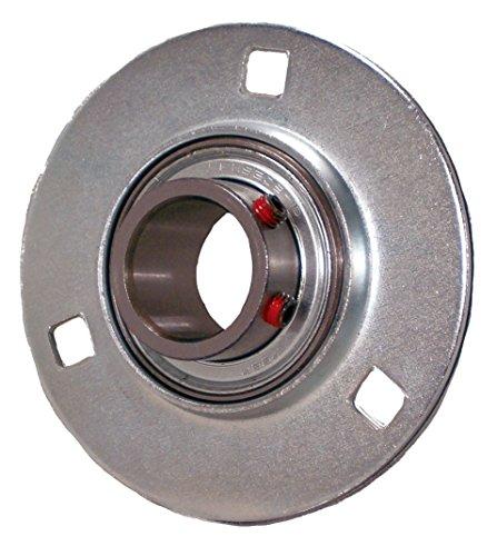 "Peer Bearing PER   FHSPFZ207-23 3 Bolt Flange Unit, Pressed Steel, Narrow Inner Ring, Non-Relubricable, Set Screw Locking Collar, Single Lip Seals, 1-7/16"" Bore, 3-15/16"" Center Length"