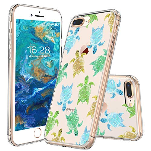sports shoes 78ee7 626b3 MOSNOVO iPhone 8 Plus Case/iPhone 7 Plus Case, Sea Turtle Pattern Clear  Design Printed Transparent Plastic Hard Back Case TPU Bumper Protective  Case ...