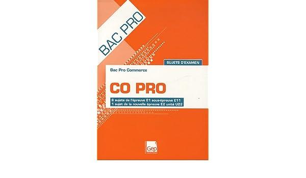 Bac Pro Commerce CO Pro Sujets dexamen : 6 sujets de lépreuve E1 sous-épreuve E11, 1 sujet de la nouvelle épreuve E2 unité U22: 9782844258809: Amazon.com: ...