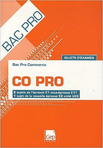 Bac Pro Commerce CO Pro Sujets dexamen : 6 sujets de lépreuve E1 sous-épreuve E11, 1 sujet de la nouvelle épreuve E2 unité U22 (French) Hardcover