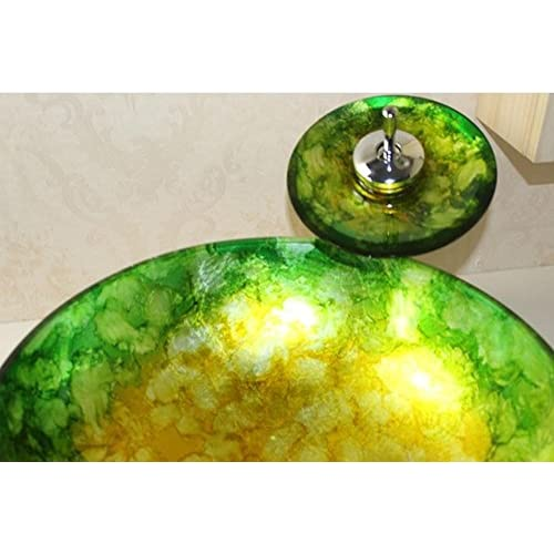 new PST@ Round wine glass toughened glass basin / bathroom wash sets / taps on the basin (420 140 12mm)
