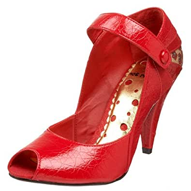 Not Rated Women's Glitter Me Pump,Red,8.5 M US