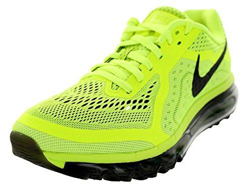 Nike Men's Air Max 2014 Volt/Black/Barely Volt/White Running Shoe 12 Men US