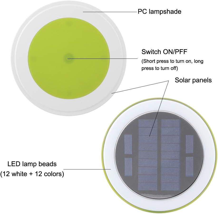 Mobestech piscina color flotante que cambia de color las luces solares impermeables del estanque LED para la decoraci/ón de la fiesta en la piscina