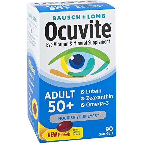 Bausch + Lomb Ocuvite Adult 50+ Eye Vitamin & Mineral Supplement – 90 Softgels (Value Pack of 3)