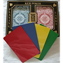 2 Free Cut Cards + KEM Arrow Red Blue Playing Cards Poker Size Jumbo Index