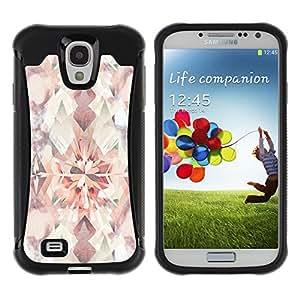 WAWU Funda Carcasa Bumper con Absorci??e Impactos y Anti-Ara??s Espalda Slim Rugged Armor -- vintage floral bright wallpaper pattern -- Samsung Galaxy S4 I9500