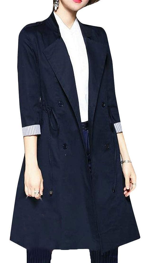 XiaoTianXin-women clothes OUTERWEAR レディース B07GH78R9H ネイビー X-Small