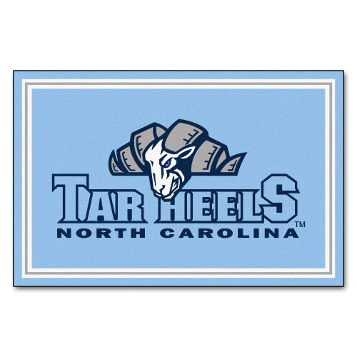 FANMATS NCAA UNC University of North Carolina - Chapel Hill Tar Heels Nylon Face 5X8 Plush Rug by Fanmats