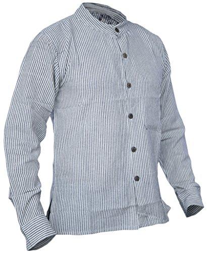 A Camicia Grey Con Bottoni Stile Light Righe Nepalese In Kathmandu Little rqxrvtH