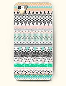 OOFIT Aztec Indian Chevron Zigzag Pattern Hard Case for Apple iPhone 4 4S ( Classic Aztec Triangle Pattern )