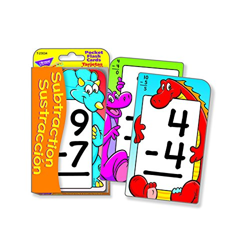 Subtraction/Sustracción Pocket Flash Cards