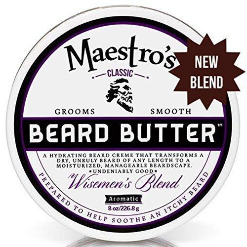 Maestro's Classic Beard Butter Wisemen's Blend 8 Ounce