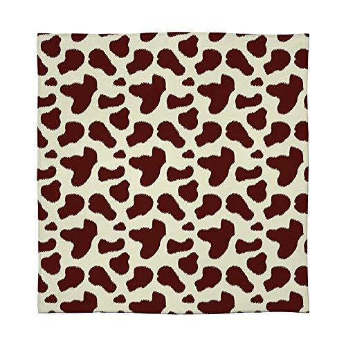 YOLIYANA Lightweight Blanket,Cow Print,for Bed Couch Chair Fall Winter Spring Living Room,Size Throw/Twin/Queen/King,Cattle Skin with Brown Spots Agriculture Cow