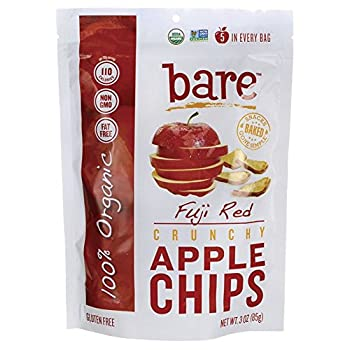 Bare Gluten Free Organic Apple Chips, Fuji and Red, 3.3 Ounce