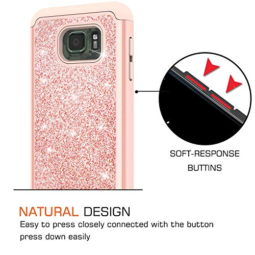 3ade6f132b4 Galaxy S7 Active Case with 2 Pack Tempered Glass Screen Protector, LeYi Glitter  Girls Women Dual Layer Heavy Duty Protective Phone Case for Samsung S7 ...