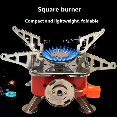 ACHICOO Poêle à gaz de Camping en Plein air Mini-brûleur à gaz Pliable Outil de Cuisson