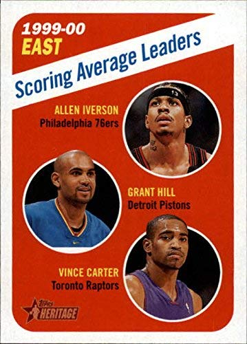 2000-01 Topps Heritage #139 Allen Iverson Grant Hill Vince Carter NBA Basketball Trading Card ()